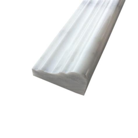 arabescato carrara polished marble chair rail molding