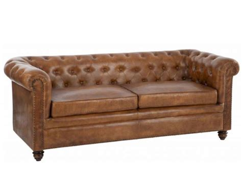canap 233 vintage cuir forme chesterfield