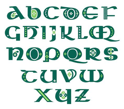 celtic pattern fonts st patty s celtic font embroidery font annthegran