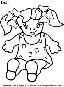 doll coloring pages coloring book pages for children doll