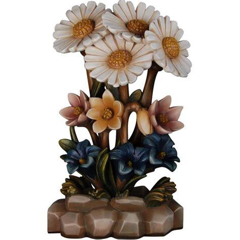 mazzo di fiori colorato mazzo di fiori con base fiori vendita scultura in legno