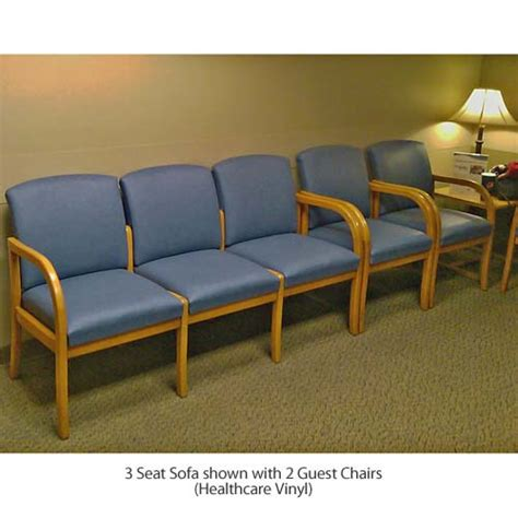 waiting room sofa lesro weston series 3 seat sofa healthcare vinyl