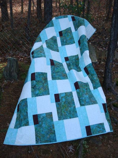 Teal Quilts by Modern Teal And Brown Bed Quilt