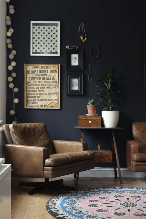 25 best ideas about black walls on pinterest dark walls dark blue walls and eclectic living room