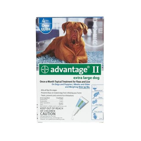 advantage for dogs 55 lbs advantage flea for dogs and puppies 55 lbs 4 month supply blue 100 4