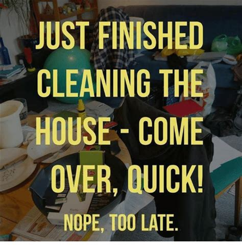 company s coming how to clean house fast just finished cleaning the house come over quick nope too