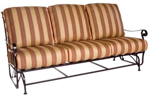 o w san cristobal wrought iron sofa glider