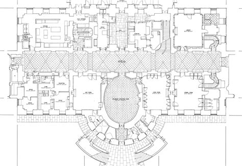 floor plan of a mansion mansion floor plans the white house ground floor