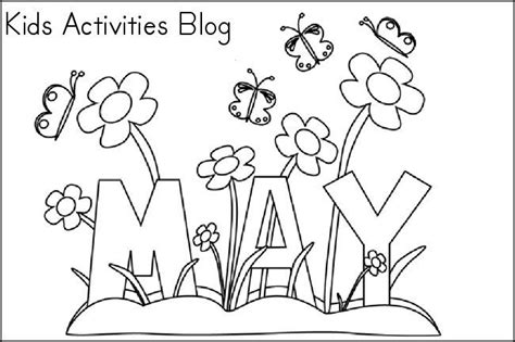 coloring pages for the month of may free printable