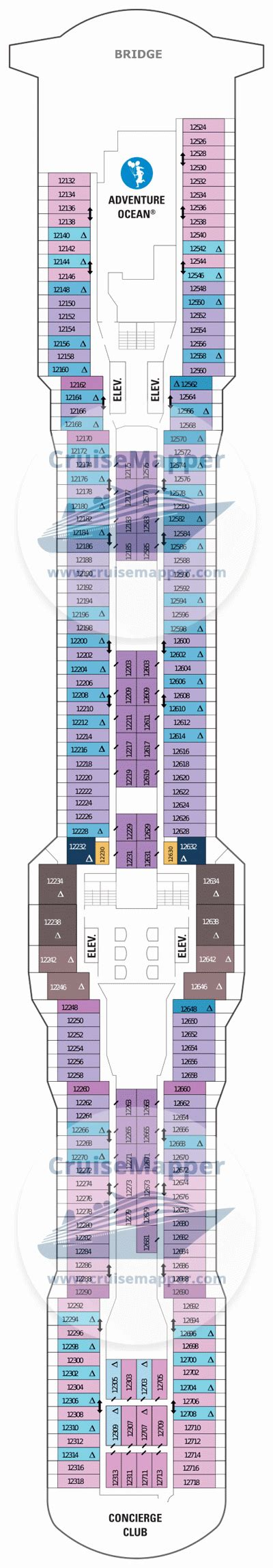 aidaprima deckplan 12 anthem of the seas deck 12 plan cruisemapper