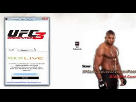 Ps3 Free Giveaway - ufc undisputed 3 season pass code free giveaway xbox 360 ps3 youtube