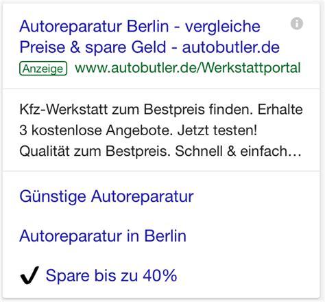 Autoreparatur Angebote by Das Erwarten Nutzer Mobilen Landing Pages