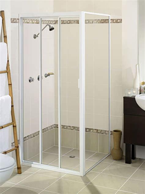 Shower Screen Sliding Door Elite Tri Door Sliding Shower Screen Lansdell Glass