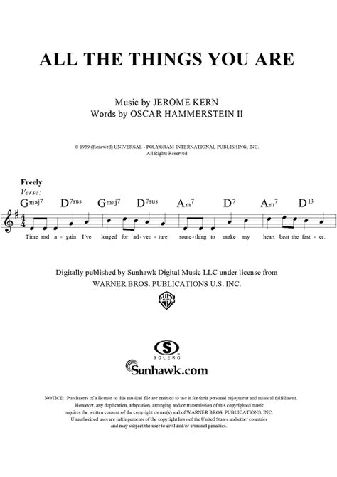 Buku All The Things You Are More Jerome Kern Songs Include Cd all the things you are sheet for piano and more