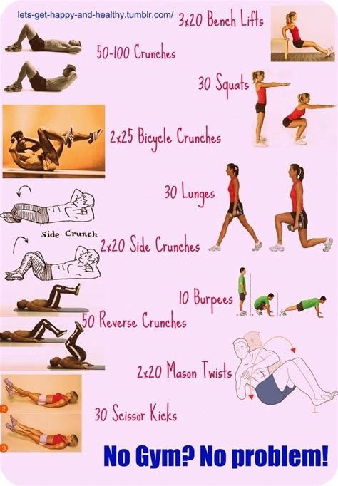 pin multi workout chart total home on