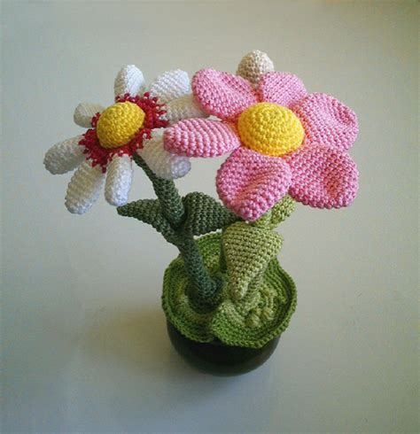pattern of flower pot 11 easy and simple free crochet flower patterns and tutorials