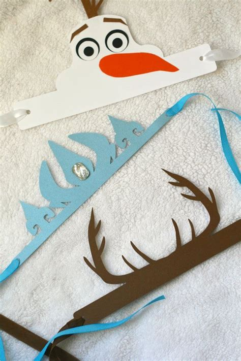 printable olaf crown frozen inspired birthday crowns 3 designs to choose from