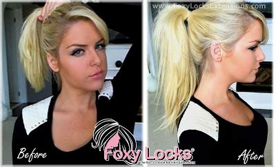 foxy locks before and after review foxy locks deluxe clip in hair extensions min