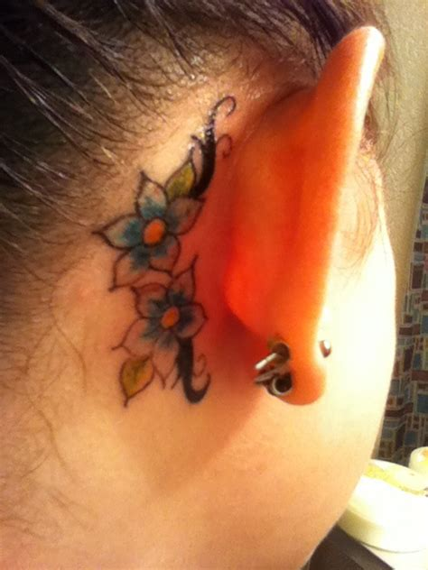behind the ear tattoo visibility 40 best images about ear tattoos on pinterest bird