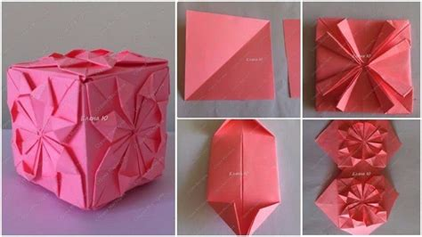 Origami Flower Cube - origami flower cube simple craft ideas
