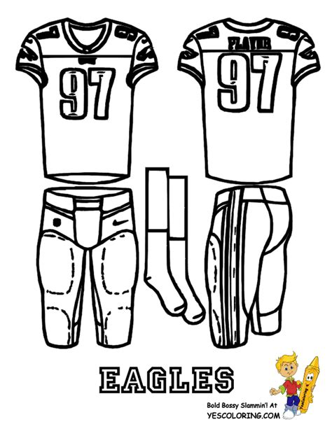 eagles football team coloring pages coloring pages