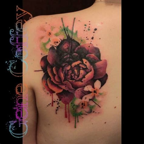 think ink tattoo flower cover up idea by tatu lique like