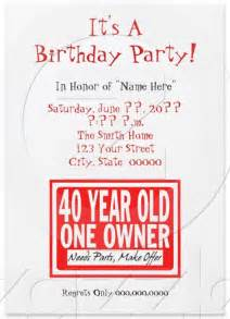 funny birthday invites wording and templates bagvania