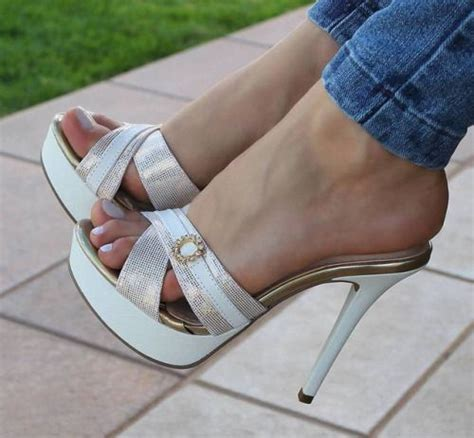 white high heel mules high heel slides nothing but mules scarpe shoes della