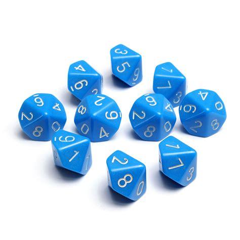 printable dice set 10pcs set multi 10 sided d10 rpg d d gaming playing game
