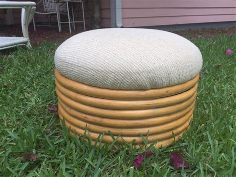 rattan ottoman round round wicker ottoman for your living room home furniture