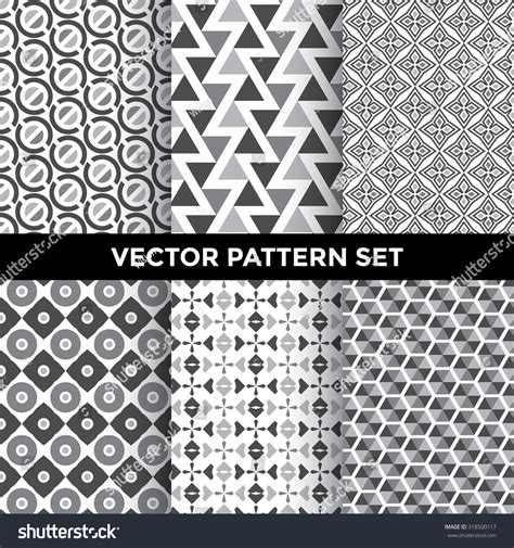 svg pattern collection universal vector pattern set collection six stock vector