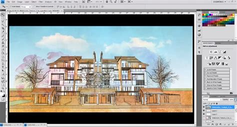 tutorial sketchup architecture water color style to an sketchup model photoshop