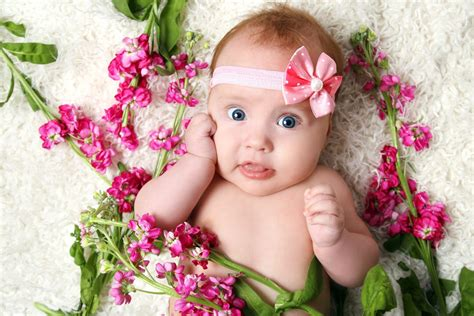 beautiful baby photos with flowers beautiful baby happy smile play child big