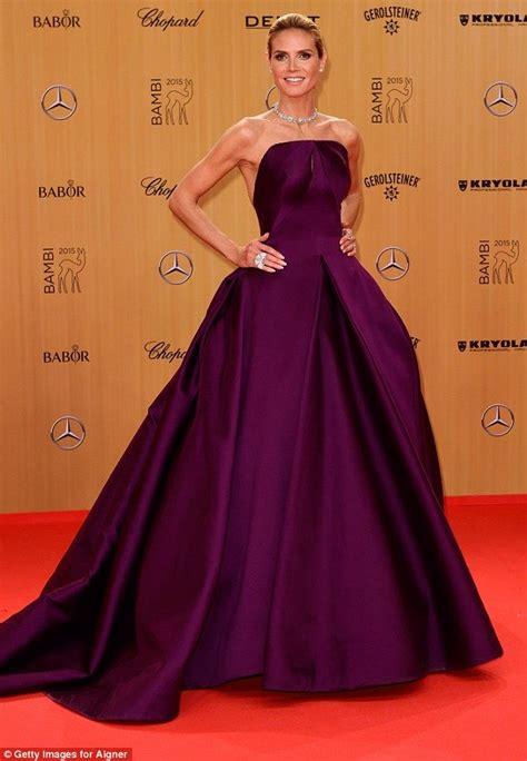Backless And Beautiful Heidi Klum heidi klum looks exquisite in backless ballgown at