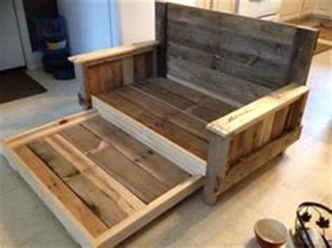 diy pallet trundle bed doggie day bed with trundle made from pallets and scrap wood