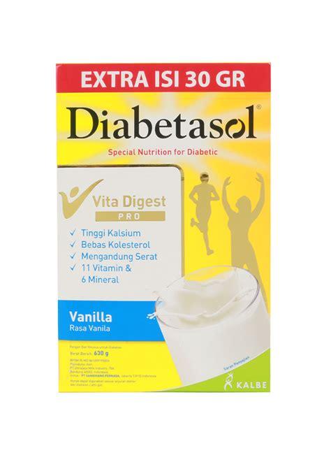 Diabetasol Coklat 600g 1 diabetasol formula diabetes vanila box 600 630g klikindomaret