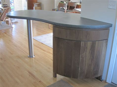 crafted curved kitchen island cabinet by mcguire