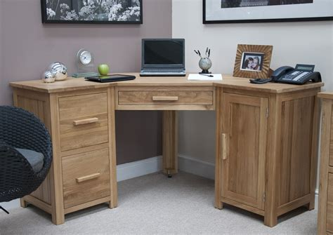 solid wood corner computer desk opus solid oak large corner computer desk oak furniture uk