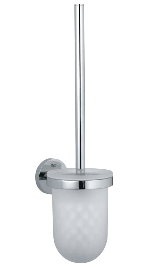 grohe toilette grohe essentials wall mounted toilet brush set 40374 000