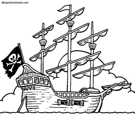 barco dibujo simple dibujos de barcos pirata para colorear