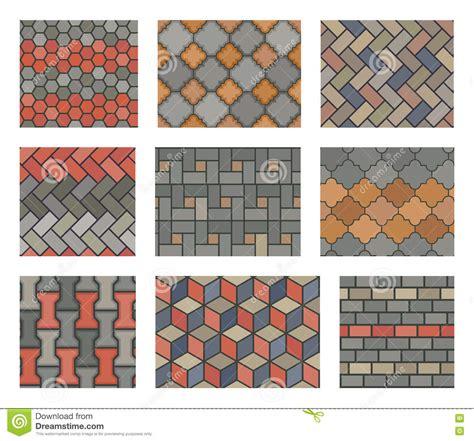design elements tile seamless stone tiles pavement vector set landscape design