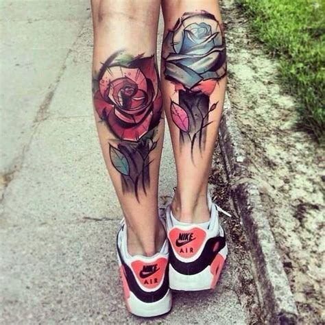 lower leg flower tattoo designs 12 calf designs you won t miss pretty designs