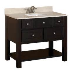 Vanity For Bathroom Lowes Shop Allen Roth Hagen Espresso Undermount Single Sink