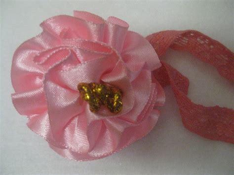 Jumper Pita Bunga Besar Pink bandana bayi dengan hiasan bunga besar chie l