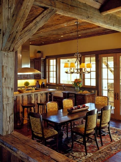 rustic dining rooms rustic dining room