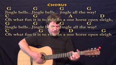 how to play jingle bells fingerstyle guitar tutorial jingle bells christmas strum guitar cover lesson w