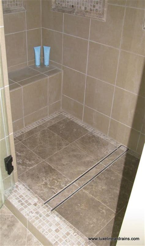 Shower Floor Insert luxe tile insert linear drain bathroom atlanta by
