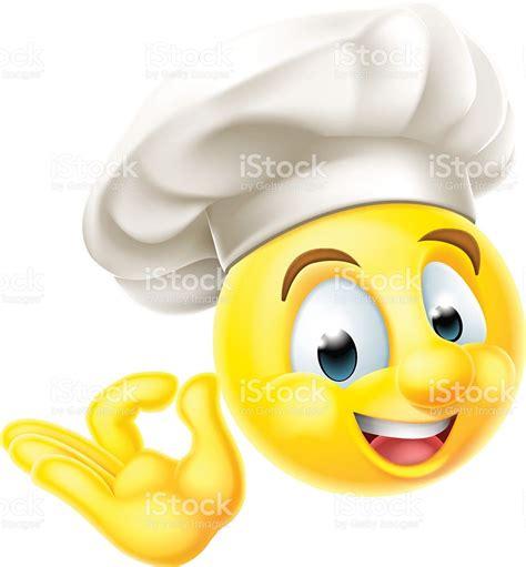 kitchen emoji chef cuisinier emoji 201 moticon stock vecteur libres de