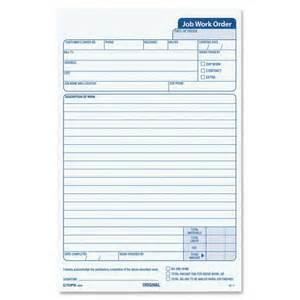 Work Order Receipt Template Business Forms Amp Receipts Jobs Proposal 1070534 Tops
