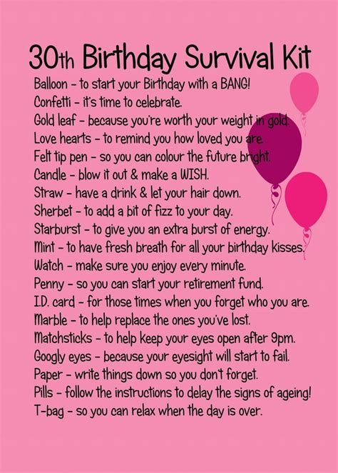 What To Write In A 30th Birthday Card The 25 Best 30th Birthday Gifts Ideas On Pinterest 30th